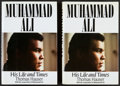 """Boxing Collectibles:Autographs, Muhammad Ali """"His Life and Times"""" Hardcover Books Lot of 2...."""