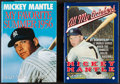 Baseball Collectibles:Publications, Mickey Mantle Signed Hardcover Books Lot of 2....