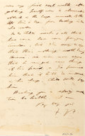 "Autographs:Non-American, Frederick James Furnivall Autograph Letter Signed ""F.J.F.""Two pages, 4.5"" x 7.25"", on his personal letterhead, London, ..."