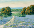 Texas:Early Texas Art - Regionalists, AMERICAN SCHOOL (20th Century). Bluebonnet Pathway. Oil oncanvasboard. 10 x 12 inches (25.4 x 30.5 cm). Signed (indisti...