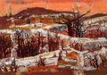 Texas:Early Texas Art - Modernists, WILLIAM LEWIS LESTER (American, 1910-1991). Austin Hills.Oil on panel. 24 x 34 inches (61.0 x 86.4 cm). Signed and titl...