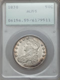 Bust Half Dollars: , 1830 50C Small 0 AU55 PCGS. PCGS Population (253/540). NGC Census:(210/865). Mintage: 4,764,800. Numismedia Wsl. Price for...