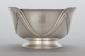 Silver Holloware, American:Bowls, A GORHAM SILVER ART DECO FOOTED BOWL . Gorham Manufacturing Co.,Providence, Rhode Island, 1930. Marks: GORHAM, D, STERLIN...