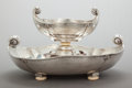 Silver Holloware, Continental:Holloware, A CALDERONI ITALIAN SILVER TWO-PART CENTER BOWL. S.A. Calderoni,Milan, Italy, circa 1960. Marks: S.A. CALDERONI, MILANO, ...