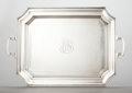 Silver Holloware, American:Trays, A GORHAM SILVER HANDLED TRAY. Gorham Manufacturing Co., Providence,Rhode Island, circa 1940. Marks: (lion-anchor-G), STER...