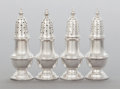 Silver & Vertu:Hollowware, A SET OF FOUR REDLICH & COMPANY SILVER SHAKERS. Redlich & Company, New York, New York, circa 1900. Marks: (sea serpent), S... (Total: 4 )