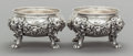 Silver Holloware, British:Holloware, A PAIR OF PAUL STORR WILLIAM IV SILVER FIGURAL OPEN SALTS. PaulStorr, London, England, circa 1833-1834. Marks: (lion passan...(Total: 2 Items)