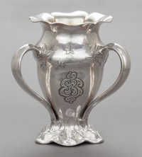 A GORHAM SILVER AND SILVER GILT MARTELÉ LOVING CUP Gorham Manufacturing Co., Providence, Rhode Island, 1920 Ma