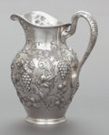 Silver Holloware, American:Water Pitchers, AN A.G. SHULTZ & CO. SILVER REPOUSSÉ WATER PITCHER. A.G.Schultz & Co., Baltimore, Maryland, circa 1900. Marks: (hand)MAD...