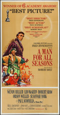 "Movie Posters:Academy Award Winners, A Man For All Seasons (Columbia, 1966). Three Sheet (41"" X 78"").Academy Award Style.. ..."