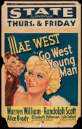 """Movie Posters:Comedy, Go West Young Man (Paramount, 1936). Window Card (14"""" X 22"""").Comedy.. ..."""
