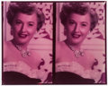 "Movie Posters:Miscellaneous, Barbara Stanwyck (1950s). Double Color Transparency (8"" X 10""). Miscellaneous.. ..."
