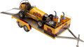 Transportation:Automobilia, Speedway Special #12 Offenhauser Model Midget Racer With Trailer...(Total: 2 Items)
