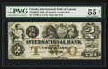 Canadian Currency: , Toronto, CW- The International Bank $2 Sept. 15, 1858 Ch. # 380-10-08-12. ...
