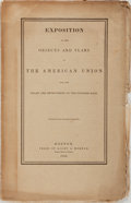 Books:Americana & American History, [Slavery - American Union]. Exposition of the Objects and Plansof the American Union for the Relief and Improvement of ...
