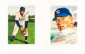 Autographs:Others, 1989 Mickey Mantle & Willie Mays Signed Lithographs. ...