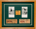 Boxing Collectibles:Autographs, 1926-27 Jack Dempsey vs. Gene Tunney Signed Ticket Display....
