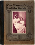 Books:Music & Sheet Music, Gertrude Manly Jones. Ole Mammy's Lullaby Songs.Philadelphia: Pepper, [1901]. Publisher's binding. Covers rubbedwi...