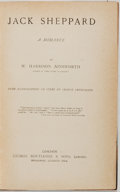 Books:Literature Pre-1900, [George Cruikshank]. W. Harrison Ainsworth. Jack Sheppard.A Romance. London: Routledge, [n.d. circa 1855]. Illu...