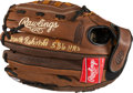 "Baseball Collectibles:Others, Frank Robinson ""586 HR's"" Signed Glove. ..."