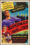 "Movie Posters:Action, Superman and the Mole Men (International Film, 1951). FrenchAffiche (31.5"" X 47""). Action.. ..."