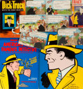 Books:Pulps, Group of Five Items Related to Dick Tracy. Includes one Dick Tracypaperback and one hardcover, Two quarto volumes of Dick T...(Total: 5 Items)