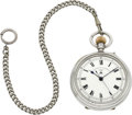 Timepieces:Pocket (post 1900), Wales & McCulloch London Very Rare Chronometer Karrusel Center Seconds Deck Watch With Spring Detent Escapement. ...