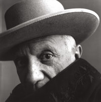 IRVING PENN (American, 1917-2009) Picasso, Cannes, France, 1957 Gelatin silver, before 1965 22-1/