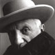 IRVING PENN (American, 1917-2009) Picasso, Cannes, France, 1957 Gelatin silver, before 1965 22-1/4 x 22-1/2 inches (5