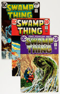 Bronze Age (1970-1979):Horror, Swamp Thing Group (DC, 1972-74) Condition: Average FN/VF....(Total: 4 Comic Books)