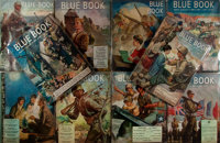 "Group of Ten Issues of Blue Book Magazine. Various issues 1944-1946. 8.5"" x 11"". Ori"