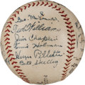 Baseball Collectibles:Balls, 1937 San Diego Padres Team Signed Minor League Baseball With Early Ted Williams Signature. ...