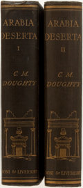 Books:Travels & Voyages, [T. E. Lawrence]. Charles M. Doughty. Travels in Arabia Deserta. New York: Boni & Liveright, 1925. Introduction by T... (Total: 2 Items)