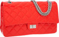 Luxury Accessories:Bags, Chanel Cherry Red Quilted Patent Leather Jumbo Reissue Double FlapBag with Silver Jewel Chain Strap. ...