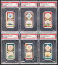 "Non-Sport Cards:Lots, 1901 R & J Hill ""Battleships & Crests"" PSA NM 7 Collection (6 Different). ..."