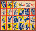 "Non-Sport Cards:Sets, 1950s W670-2 Flip Cards ""Rocket Ships and Airplanes"" Complete Set(21) - On Uncut Sheet! ..."