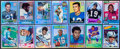 Football Collectibles:Others, Signed 2001 Topps Archives Reserved Football Stars & HoFers Collection (14). ...