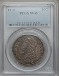 Bust Half Dollars: , 1819 50C XF45 PCGS. PCGS Population (66/265). NGC Census: (57/249).Mintage: 2,208,000. Numismedia Wsl. Price for problem f...