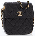 Luxury Accessories:Accessories, Chanel Black Quilted Lambskin Leather Small Shoulder Bag . ...
