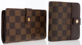 Luxury Accessories:Accessories, Louis Vuitton Set of Two: Damier Ebene Canvas French Clip Wallet & Damier Ebene Canvas French Wallet . ... (Total: 2 )