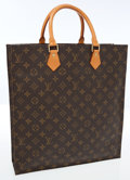 Luxury Accessories:Accessories, Louis Vuitton Classic Monogram Canvas Sac Plat Shopper Bag . ...