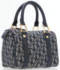 Luxury Accessories:Bags, Christian Dior Navy Blue Monogram Canvas Small Tote Bag . ...