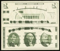 """Small Size:Group Lots, Giori """"Washington"""" Face and Back Test Note. Uncirculated.. ..."""