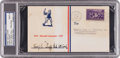 Baseball Collectibles:Others, 1939 Hugh Duffy Signed Baseball Centennial First Day Cover, PSA/DNAMint 9. ...