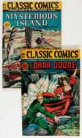Golden Age (1938-1955):Classics Illustrated, Classic Comics #32 and 34 First Editions Group (Gilberton, 1946-47)Condition: Average FN+.... (Total: 2 Comic Books)