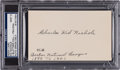 "Baseball Collectibles:Others, Circa 1950 Charles ""Kid"" Nichols Signed Index Card, PSA/DNA Mint 9. ..."