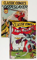 Golden Age (1938-1955):Classics Illustrated, Classic Comics #11 and 17 First Editions Group (Gilberton, 1943-44).... (Total: 2 Comic Books)