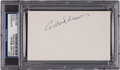 Baseball Collectibles:Others, 1970's Willard Brown Signed Index Card. ...