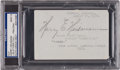 Baseball Collectibles:Others, 1923 Harry Heilmann Signed Album Page, PSA/DNA Mint 9. ...