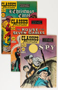 Golden Age (1938-1955):Classics Illustrated, Classic Comics First Editions Group (Gilberton, 1948-49) Condition:Average FN+.... (Total: 7 Comic Books)